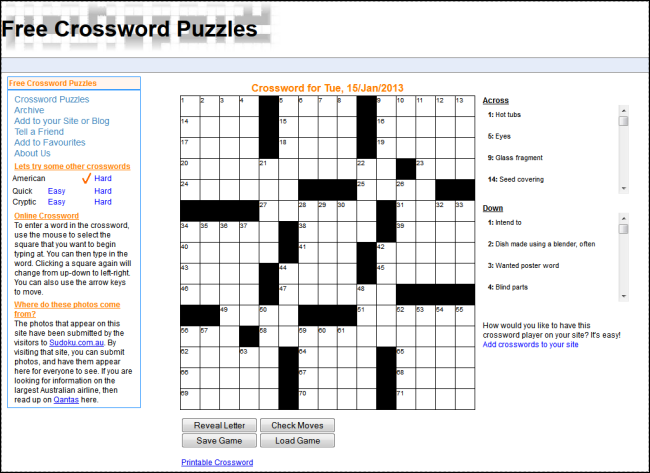 free_crossword_puzzles