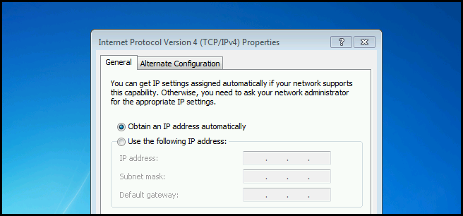 your computer was not assigned an address from the network