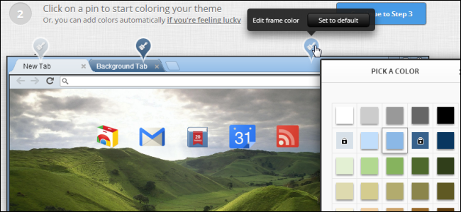 how to easily create your own google chrome theme