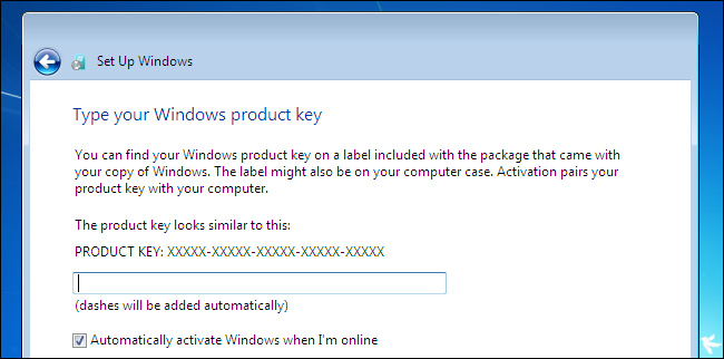 need a windows 7 activation key