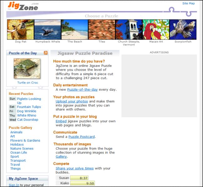 The Everything Corner: Best Puzzle Websites