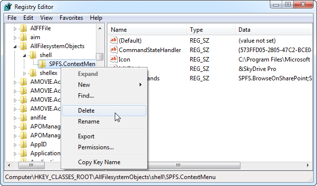 remove-skydrive-pro-from-context-menu