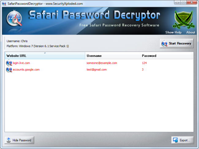 safari-password-decryptor