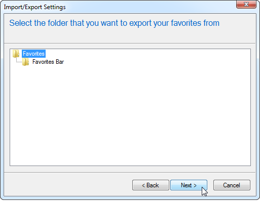 select-ie-favorites-to-export