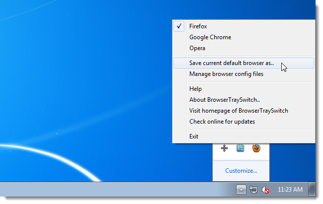 how to change default browser in windows