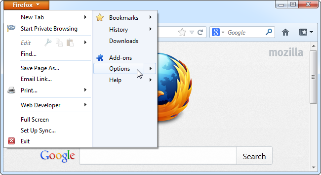 firefox-menu-options