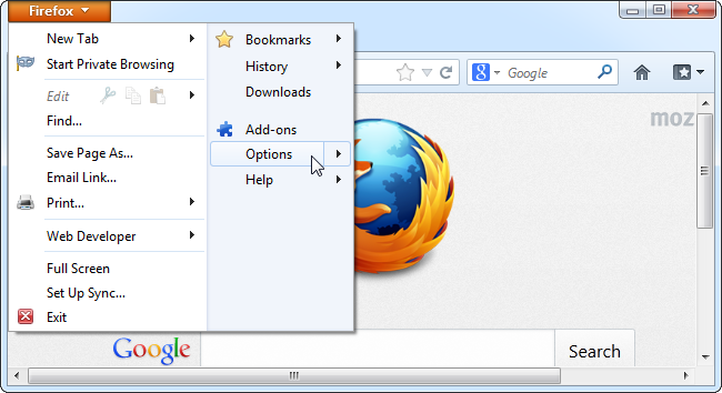 firefox-options-in-menu