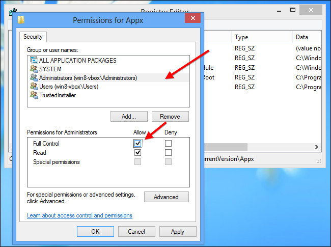 how to give full permission to administrator in window 10