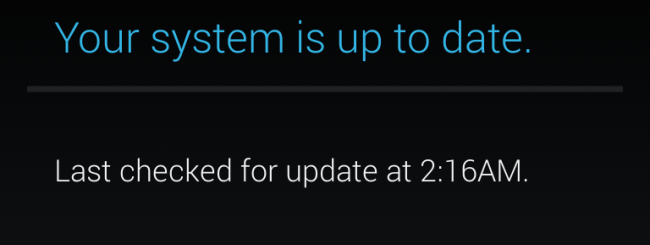 android-is-up-to-date