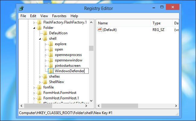 create-windows-defender-key-in-registry
