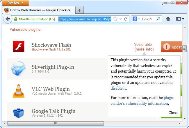 plugin-check-flash-vulnerable