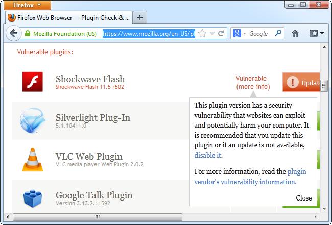 plugin-check-flash-vulnerable