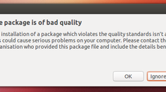 """What Does """"This Package Is of Bad Quality"""" Mean on Ubuntu?"""