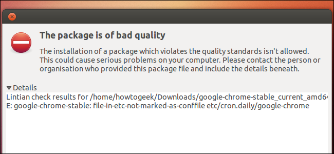 this-package-is-of-bad-quality-google-chrome