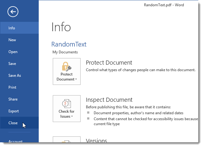 turn pdf file into word