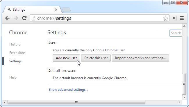 add-chrome-user