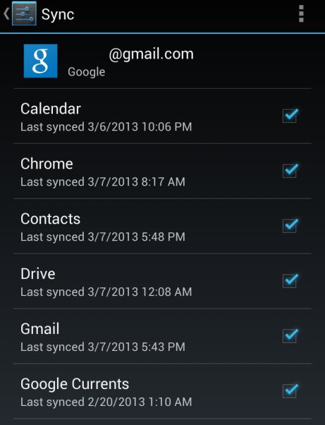 android-google-sync