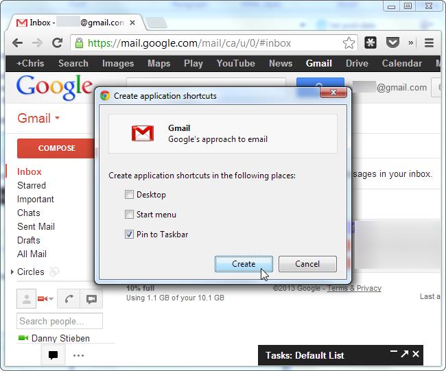 chrome pin web app to taskbar2