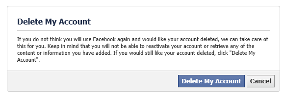 How to quit facebook twitter google and other social networks and completely delete your account you should visit the account removal page instead click the delete my account button and youll be asked to provide ccuart Choice Image