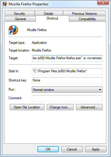 firefox-no-remote