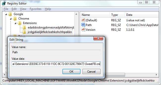 sweetim-chrome-extension-in-registry