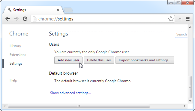 add-chrome-user