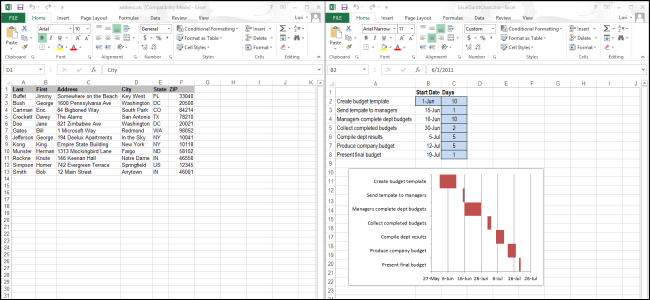 How to view spreadsheets side by side in separate windows for Side by side comparison template excel
