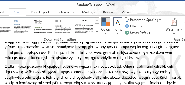 How To Add A Watermark Document In Word 2013