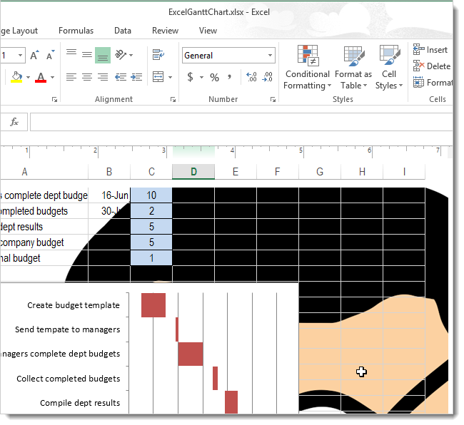 how to put picture behind text in excel 2013