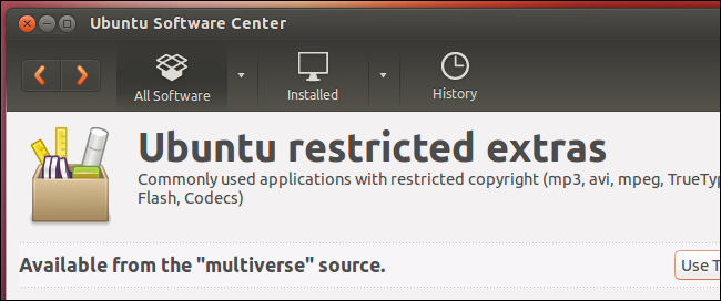 ubuntu-restricted-extras-package
