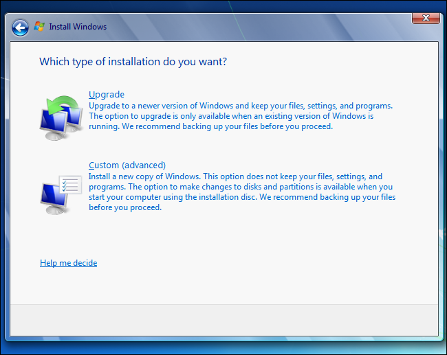 windows-7-upgrade-vs-custom