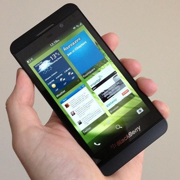application android sur blackberry z10