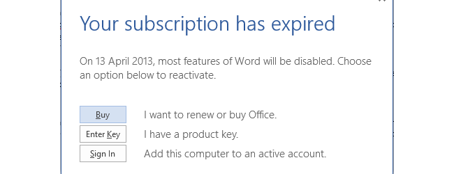 office 365 word 2013 product key