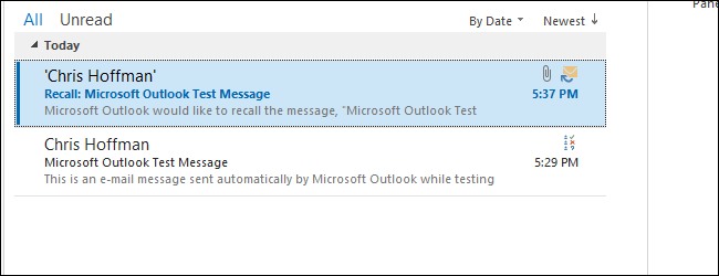 retract email outlook 2013