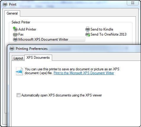 rosoft-xps-document-writer-printer