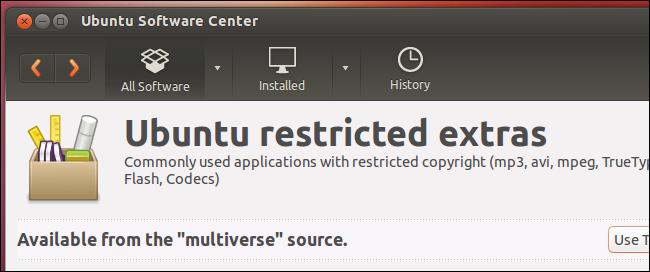 ubuntu-restricted-extras-package