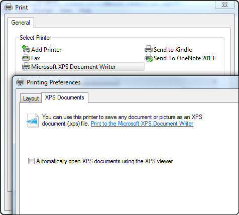 rosoft-xps-document-writer-printer