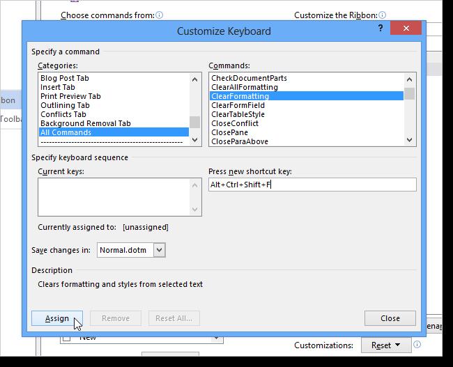 06_assigning_shortcut_key