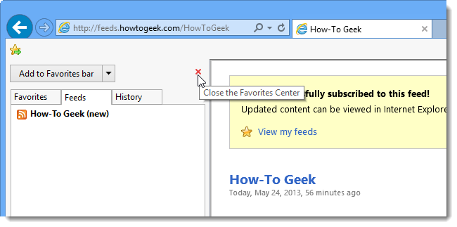 Share RSS Feeds Between Internet Explorer and Outlook Using