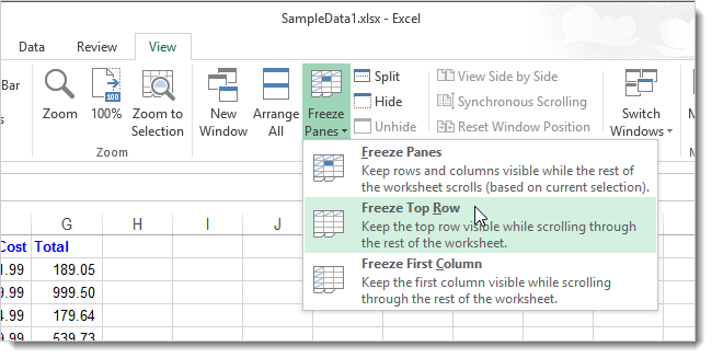 06_selecting_freeze_top_row