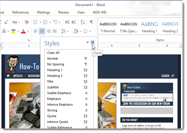 how to add image in word document