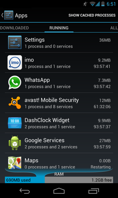 android-running-processes