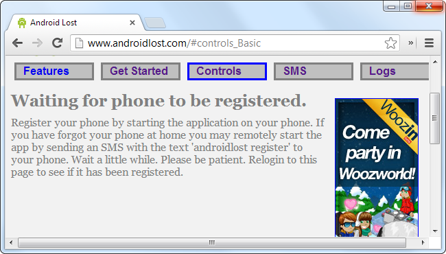 android-lost-waiting-for-phone-to-register