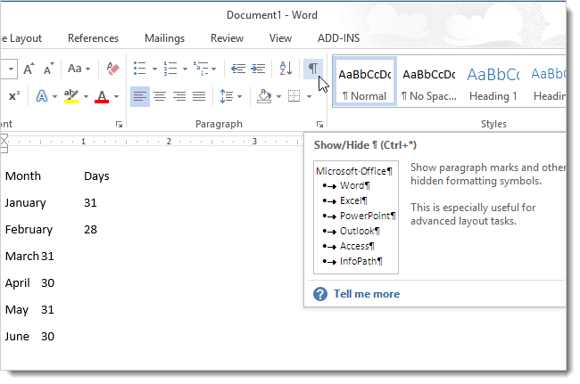 How To Convert Text To A Table And A Table To Text In Word