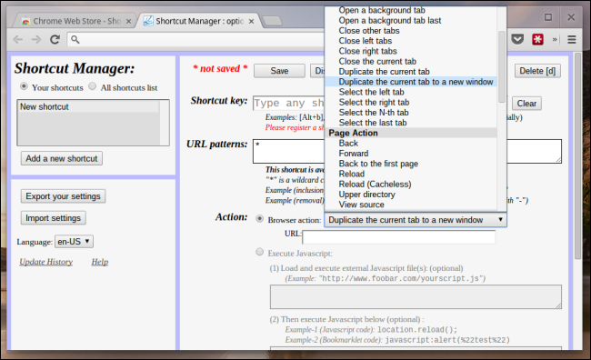 chrome-shortcut-manager