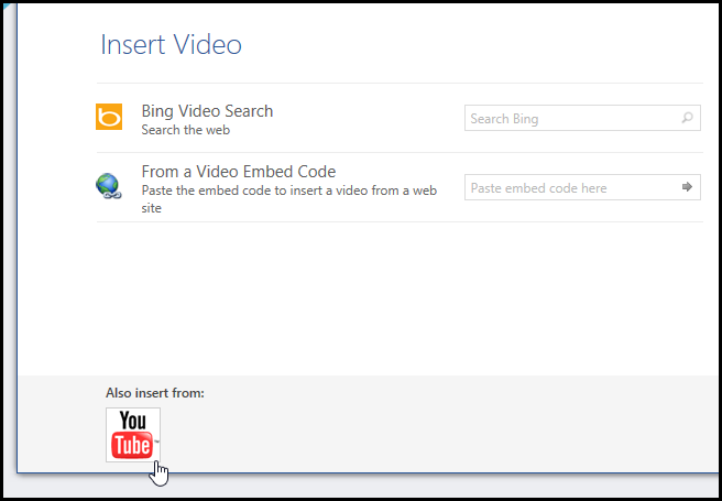 How to insert a youtube video into a microsoft word document in image ccuart Images