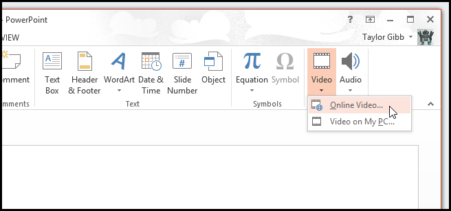 How to insert a youtube video into a powerpoint presentation in if this is your first time inserting a video from youtube you will need to add it as a provider from the bottom left hand side of the dialog ccuart Images