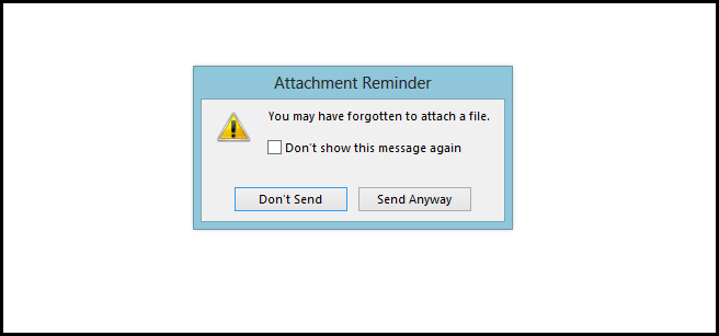 How to Enable or Disable The Forgotten Attachment Reminder
