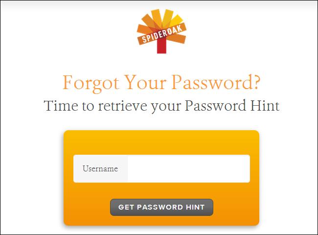 spideroak-password-hint