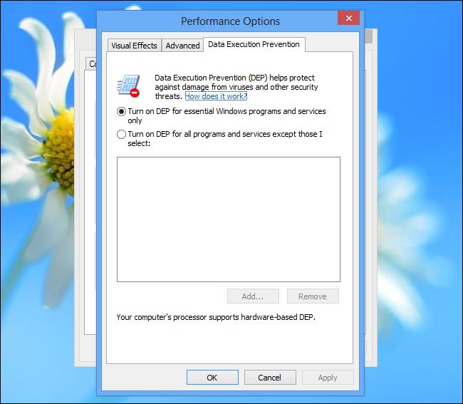 windows-dep-options